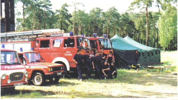 Ausbildung 1995 im Gelände der ehemaligen Munitionsanstalt (Muna)