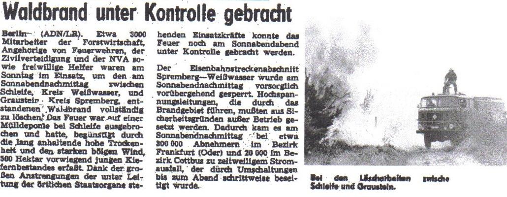 Lausitzer Rundschau vom 16.5.1988