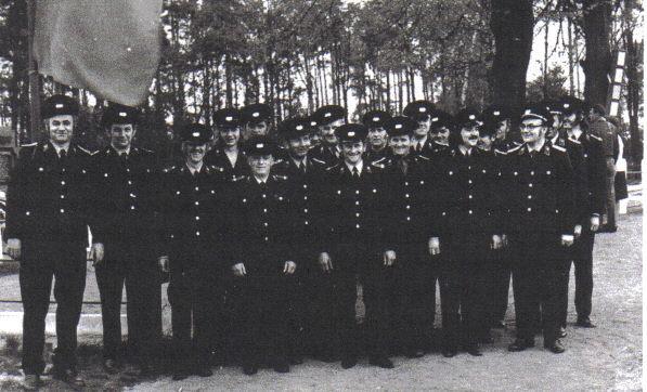 Mannschaftsfoto der Feuerwehr Schleife aus den Siebzigern
